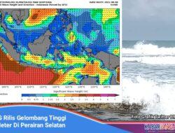 BMKG Rilis Gelombang Tinggi 4-6 Meter Di Perairan Dan Samudera Hindia Selatan